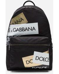 Dolce & Gabbana - Rucksack Vulcano Aus Bedrucktem Nylon - Lyst