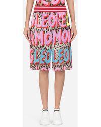 Dolce & Gabbana - Pop Leopard-print Nylon Shorts - Lyst