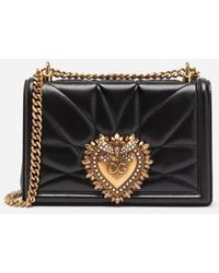 Dolce & Gabbana - Medium Devotion Bag In Quilted Nappa Leather - Lyst