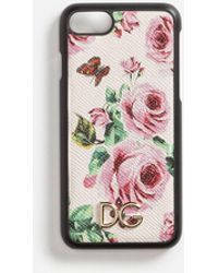 Dolce & Gabbana - Iphone 7 Cover In Printed Dauphine Calfskin - Lyst