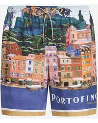 Dolce & Gabbana - Long Printed Swimming Trunks - Lyst