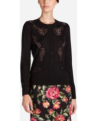 Dolce & Gabbana - Cardigan With Lace Inserts - Lyst