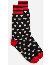 Dolce & Gabbana - Cotton Jacquard Socks - Lyst