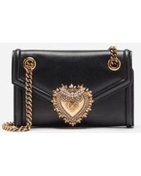 5c3b96af2c2a Dolce   Gabbana - Medium Devotion Bag In Smooth Calfskin Leather - Lyst
