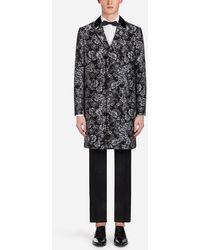 Dolce & Gabbana - Manteau Jacquard Avec Roses - Lyst