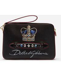718c06565b53 Lyst - Dolce   Gabbana Von Bag In Dauphine Calfskin With Dg Logo ...