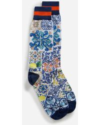 Dolce & Gabbana - Printed Cotton Socks - Lyst
