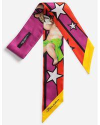 Dolce & Gabbana - Printed Silk Headband - Lyst