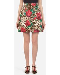 Dolce & Gabbana - A-line Skirt In Brocadeâ - Lyst