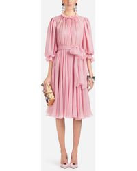 Dolce & Gabbana - Silk Dress - Lyst