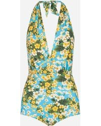 Dolce & Gabbana - Printed One-piece Swimsuit - Lyst