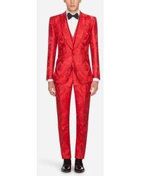 Dolce & Gabbana - Anzug Sicilia Aus Jacquard - Lyst