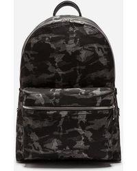Dolce & Gabbana - Vulcano Backpack In Camouflage - Lyst
