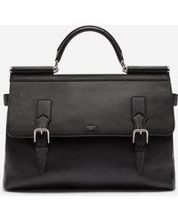 Dolce & Gabbana - Sicily Work Bag In Calfskin - Lyst