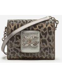 9387ed545d9 Dolce   Gabbana - Mini Dg Millennials Bag In Leopard-print Lurex Jacquard -  Lyst