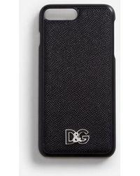 Dolce & Gabbana - Iphone 7/8 Plus Cover In Dauphine Calfskin - Lyst