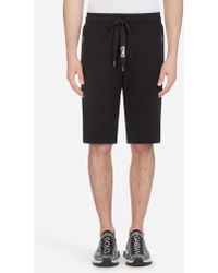 Dolce & Gabbana - Cotton Bermuda JOGGING Shorts With Embroideryâ - Lyst