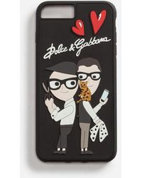 Dolce & Gabbana - Iphone 7/8 Plus Cover With Rubber Patches Of The Designers - Lyst