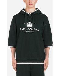 Dolce & Gabbana - Sudadera De Algodón Con Capucha Y Estampado - Lyst