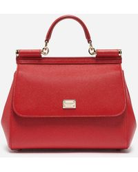 Lyst - Dolce   Gabbana Medium Sicily Bag In Dauphine Leather With ... 8bf43f6474