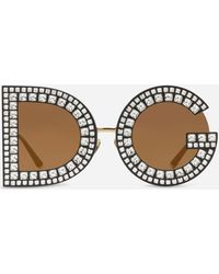 Dolce & Gabbana - Dg Sunglasses With Crystal Detailsâ - Lyst