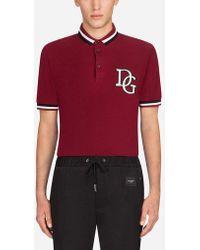 Dolce & Gabbana - Polo De Piqué De Algodón Con Logotipo - Lyst