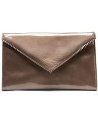 Donald J Pliner - Crinkle Patent Leather Clutch - Lyst