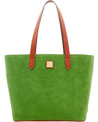 Dooney & Bourke - Suede Zip Top Shopper - Lyst