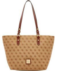 2f44cd10d0 Dooney   Bourke - Madison Signature Devon Tote - Lyst