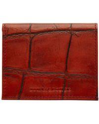 Dooney & Bourke - Croco Credit Card Holder - Lyst