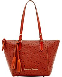 630719a5fee4 Dooney & Bourke - Ostrich Maxine Tote - Lyst