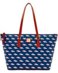 Dooney & Bourke - Nfl Broncos Zip Top Shopper - Lyst