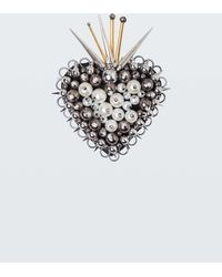 Dorothee Schumacher - Dazzling Edge Flaming Heart Brooch - Lyst