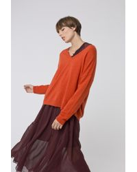 Dorothee Schumacher - Vivid Dreamscapes Pullover V-neck 1/1 - Lyst