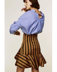 Dorothee Schumacher - Structured Stripes High Waisted Volant Skirt - Lyst