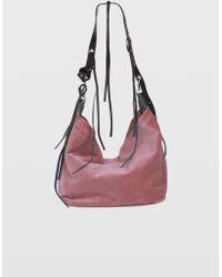 Dorothee Schumacher - Wild Velvet Velvet Bag With Adjustable Leather Handle - Lyst