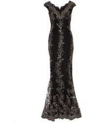 Dorothy Perkins - Quiz Multi Colour Embroidered Fishtail Maxi Dress - Lyst