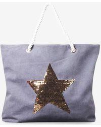 Dorothy Perkins | Navy Sequin Star Rope Shopper Bag | Lyst