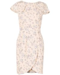 Dorothy Perkins - Tenki Beige Floral Tea Dress - Lyst