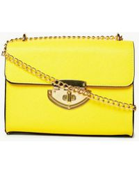 b7608272d6 Lyst - Dorothy Perkins Cream Bone Pocket Front Saddle Cross Body Bag ...