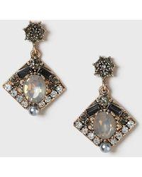 Dorothy Perkins - Rhinestone Drop Earrings - Lyst