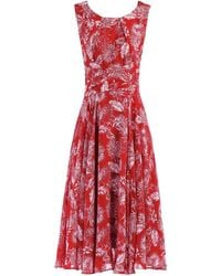 Dorothy Perkins - Jolie Moi Red Printed Fit And Flare Dress - Lyst