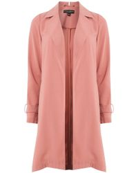 Dorothy Perkins - Rose Trench Waterfall Duster Coat - Lyst