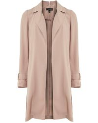 Dorothy Perkins - Camel Trench Waterfall Duster Coat - Lyst
