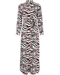 d019b098de5 Dorothy Perkins - Petite Multi Coloured Zebra Print Maxi Shirt Dress - Lyst