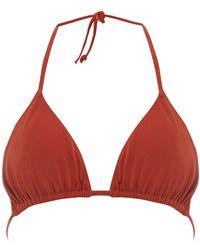 Dorothy Perkins - Dp Beach Rust Triangle Bikini Top - Lyst