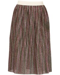 Dorothy Perkins - Tenki Multi Coloured Shiny Midi Skirt - Lyst