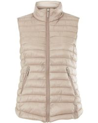 Dorothy Perkins - Beige Compacat Pack A Puffer Gilet Jacket - Lyst