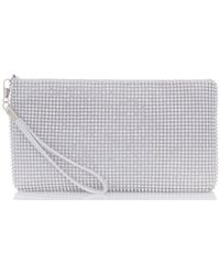 Dorothy Perkins - Quiz Silver Diamante Purse - Lyst