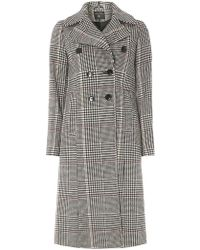 Dorothy Perkins - Check Double Breasted Coat - Lyst
